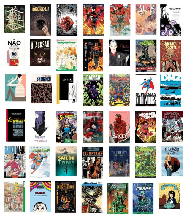000 2013 best graphic novels wordpress collage