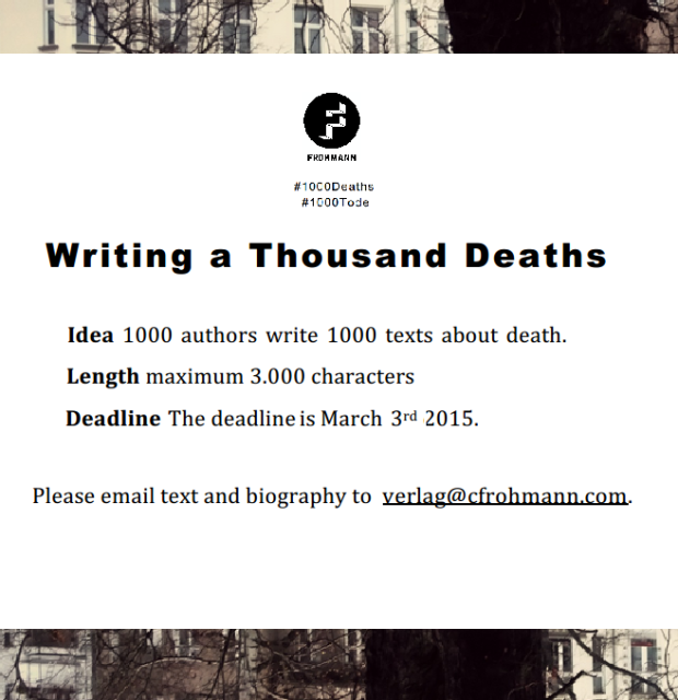writing a thousand deaths twitter