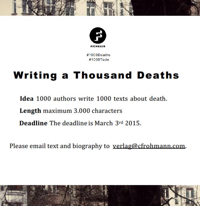 writing a thousand deaths twitter