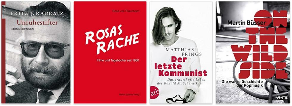 deutsche schwule Biographien, Tagebücher, Erinnerungen Fritz J. Raddatz, Rosa von Praunheim, Roland M. Schernikau Matthias Frings, Martin Büsser