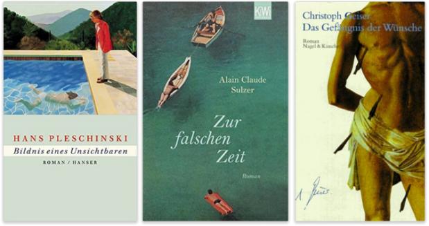 deutsche schwule literatur, hans pleschinski, alain claude sulzer, christoph geiser