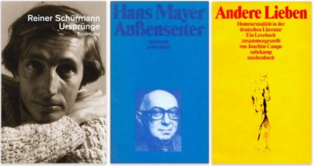 deutsche schwule literatur, reiner schürmann, hans mayer, joachim campe