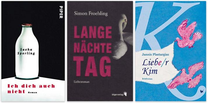 deutsche schwule literatur, Sacha Sperling, Simon Froehling, Jannis Plastargias