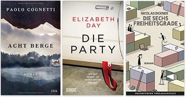 neue Bücher 2017 Paolo Cognetti, Elizabeth Day, Nicolas Dickner