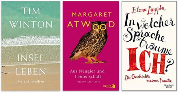 neue Bücher 2017 Tim Winton, Margaret Atwood, Elena Lappin