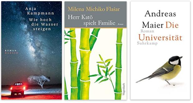 Literatur 2018 Anja Kampmann, Milena Michiko Flasar, Andreas Maier