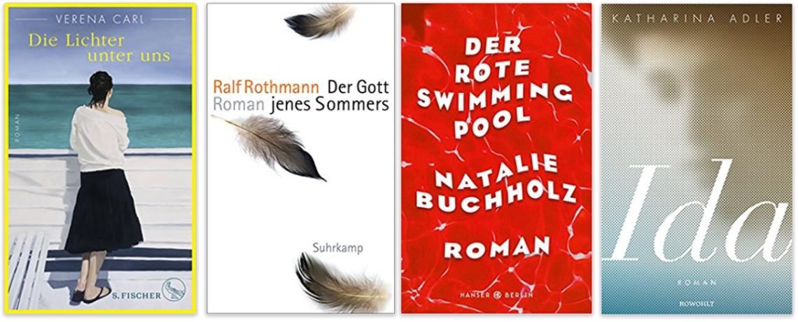 Literatur  Verena Carl Ralf Rothmann Natalie Buchholz Katharina Adler