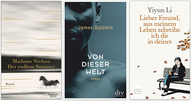 neue Bücher 2018 Madame Nielsen, James Baldwin, Yiyun Li