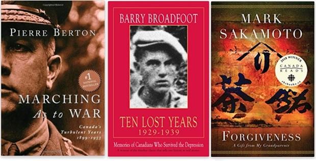 #canadaFBM2020 Buchmesse Ehrengast - beste Bücher kanadische Literatur CanLit - Pierre Berton, Barry Broadfoot, Mark Sakamoto