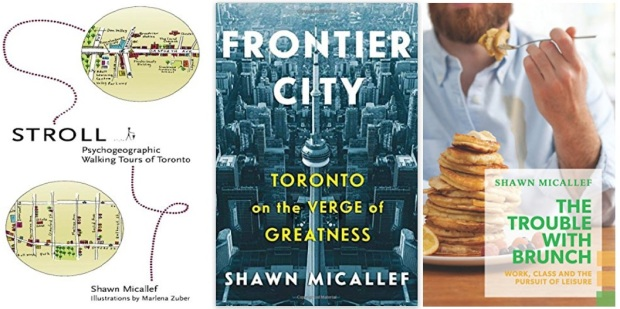 #canadaFBM2020 Buchmesse Ehrengast - beste Bücher kanadische Literatur CanLit - Shawn Micallef, Stroll, Frontier City, The Trouble with Brunch