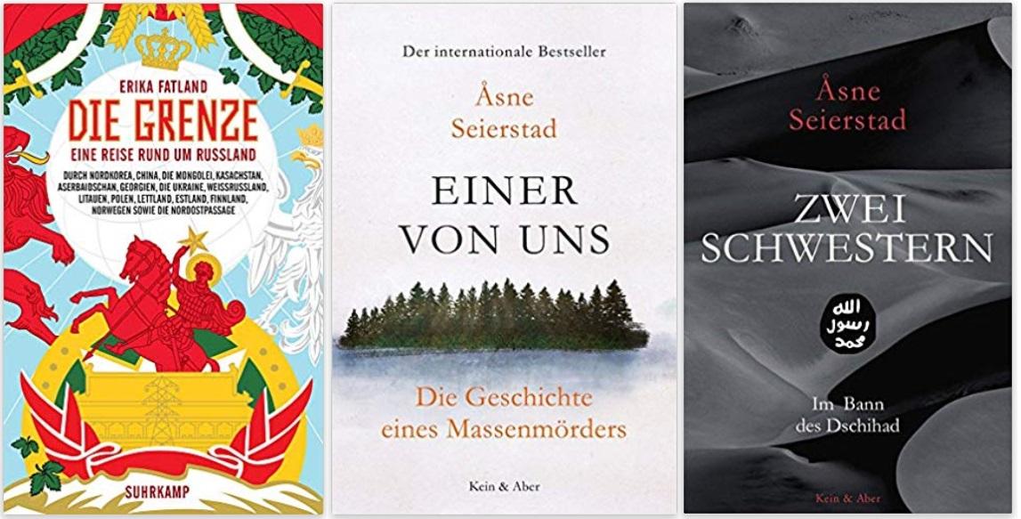 10 Norwegen Gastland Ehrengast Frankfurter Buchmesse 2019 - Erika Fatland Die Grenze,, Asne Seierstad Einer von uns, Zwei Schwestern - im Bann des Dschihad