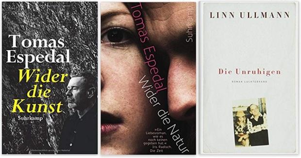18 Norwegen Gastland Ehrengast Frankfurter Buchmesse 2019 - Tomas Espedal Wider die Kunst, Wider die Natur, Linn Ullmann Die Unruhigen