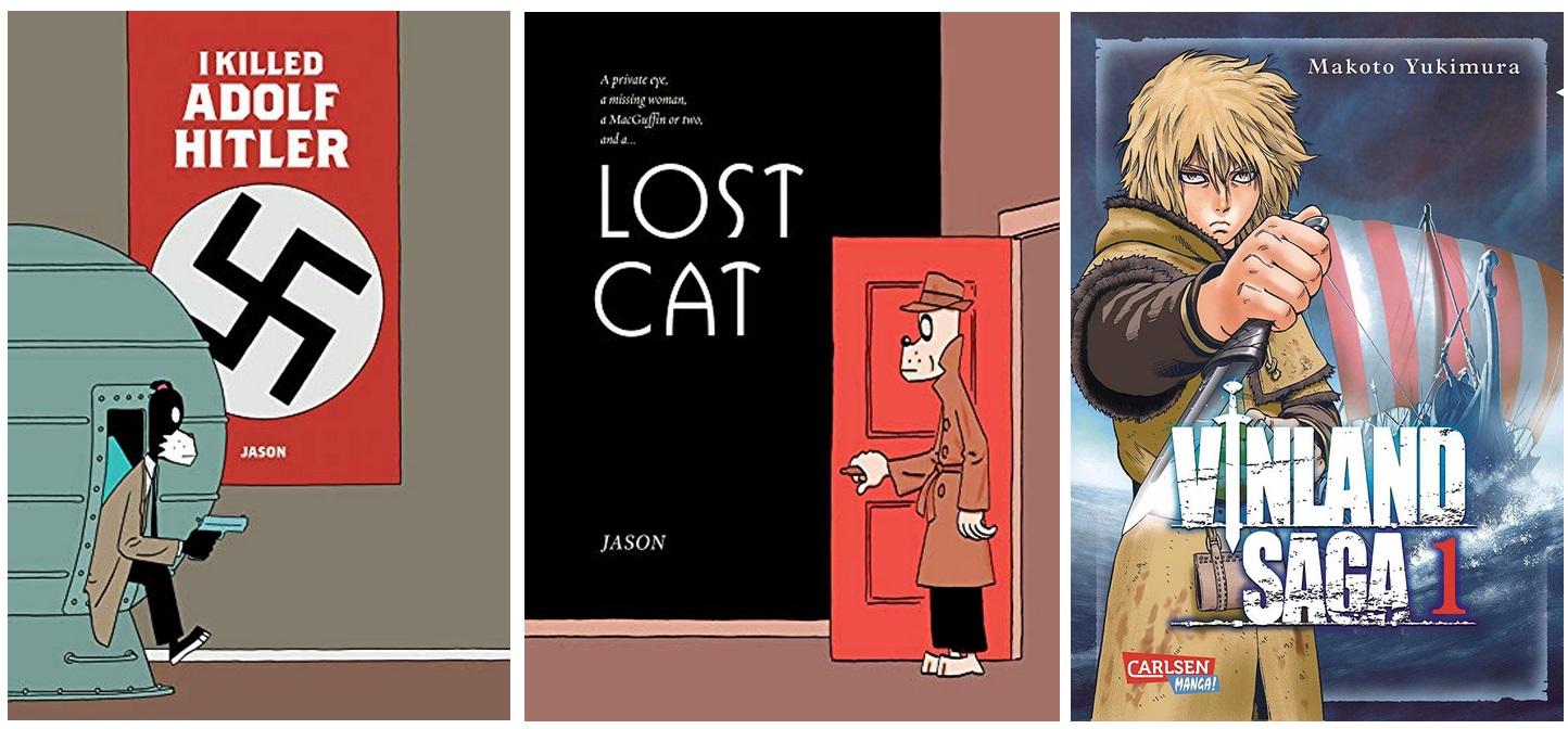 20 Norwegen Gastland Ehrengast Frankfurter Buchmesse 2019 - Manga Graphic Novel Comics Jason I killed Adolf Hitler, Jason Lost Cat, Vinland Saga
