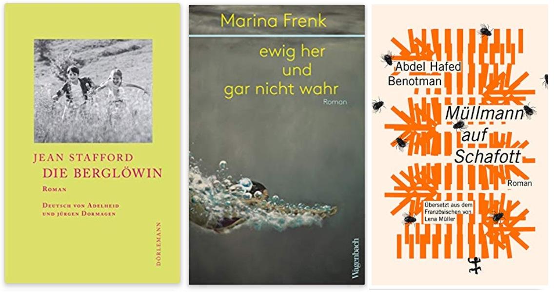 03 2020 Bücher des Jahres, Romane des Jahres - Jean Stafford, Marina Frenk, Abdel Hafed Benotman