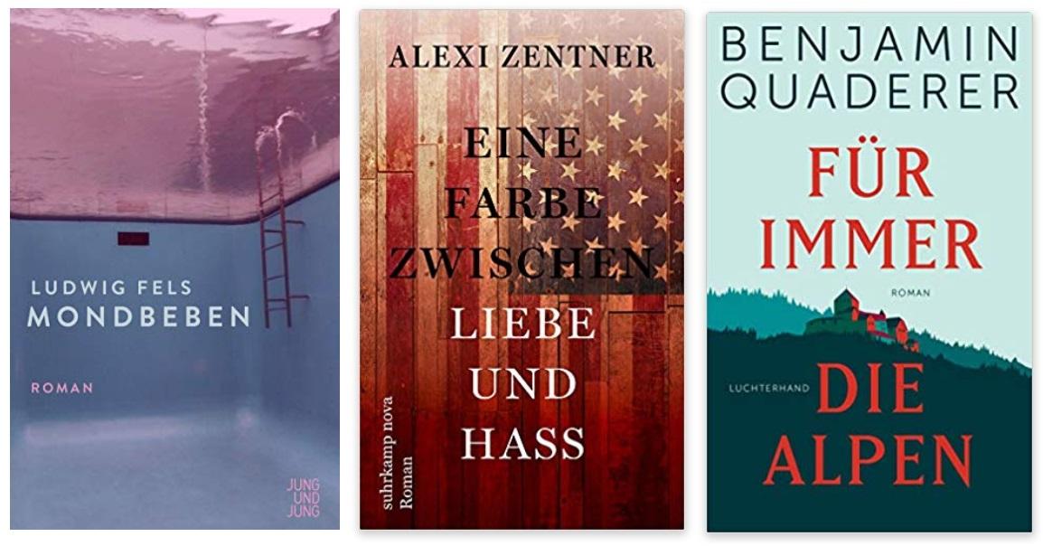 05 2020 Bücher des Jahres, Romane des Jahres - Ludwig Fels, Alexi Zentner, Benjamin Quaderer