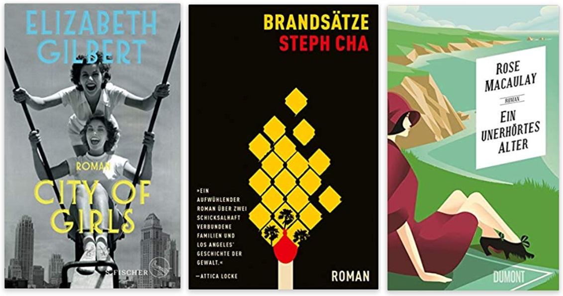 08 2020 Bücher des Jahres, Romane des Jahres - Elizabeth Gilbert, Steph Cha, Rose Macaulay