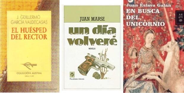 17 Spanien, Ehrengast Gastland Frankfurter Buchmesse 2021 - Jose Guillermo Garcia Valdecasas, Juan Marse, Juan Eslava Galan