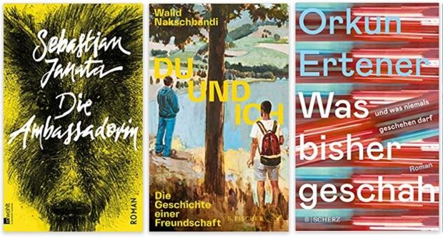 18 2020 Bücher des Jahres, Romane des Jahres - Sebastian Janata, Walid Nakschbandi, Orkun Ertener