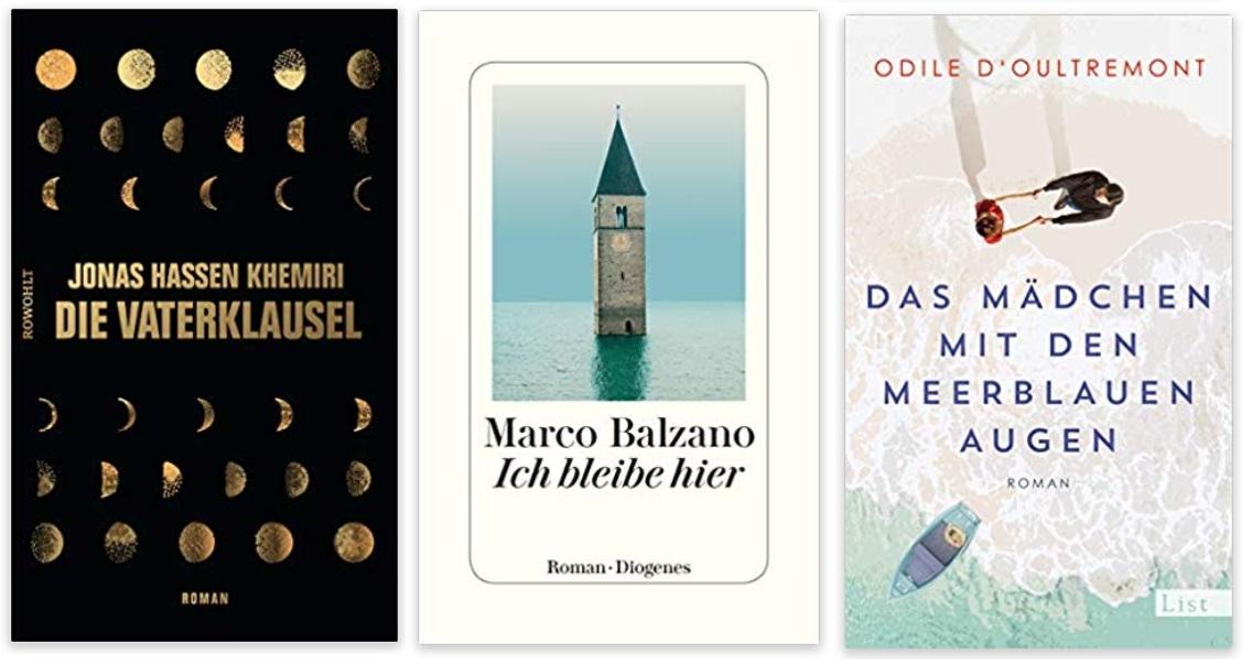 24 2020 Bücher des Jahres, Romane des Jahres - Jonas Hassen Khemiri, Marco Balzano, Odile d'Oultremont