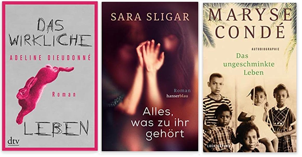 25 2020 Bücher des Jahres, Romane des Jahres - Adeline Dieudonné, Sara Sligar, Maryse Condé