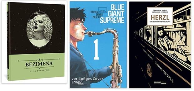28 2020 Comics des Jahres, Romane des Jahres - Nina Bunjeva, Shinichi Ishizuka, Camille de Toledo