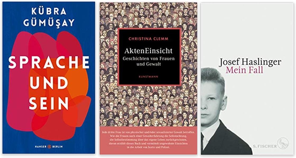30 2020 Bücher des Jahres, Sachbücher des Jahres - Kübra Gümüsay, Christina Clemm, Josef Haslinger