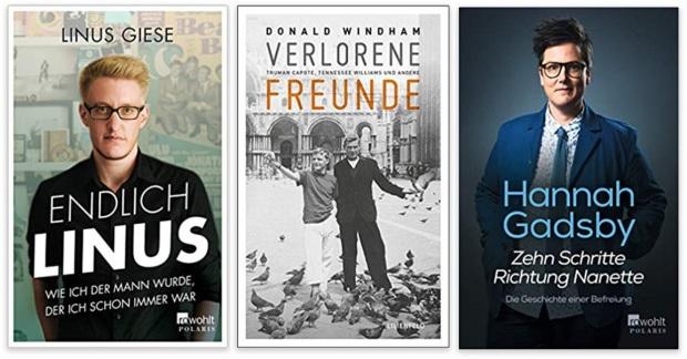 32 2020 Bücher des Jahres, Sachbücher des Jahres - Linus Giese, Donald Windham, Hannah Gadsby