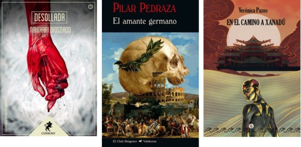 32 Spanien, Ehrengast Gastland Frankfurter Buchmesse 2021 - Nahikari Diosdado, Pilar Pedraza, Veronica Pazos